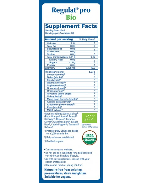 Regulat Supplement Facts
