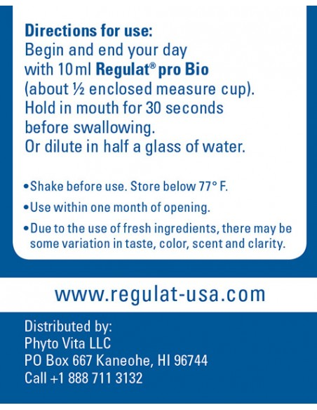 Regulat Directions for Use